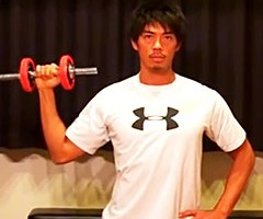 三角筋と体幹を強化