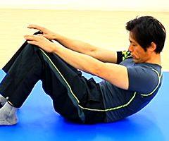 腹筋強化「クランチ」の方法